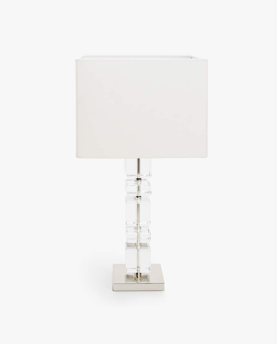 Image 1 Of The Product Crystal Cubes Lamp Zara Home Lampe Zara