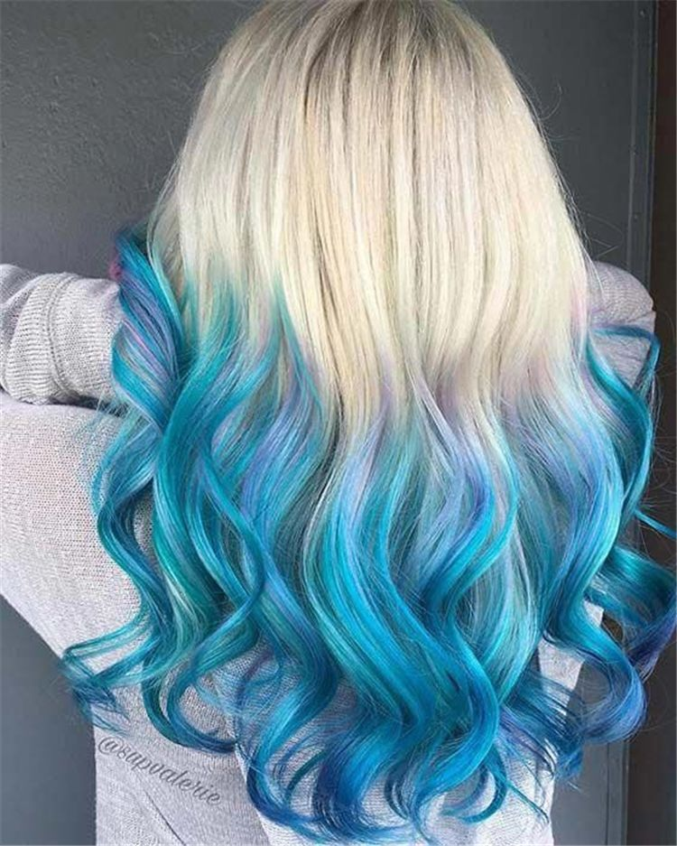 50 Bold And Pretty Blue Ombre Hair Color And Hairstyles You Must