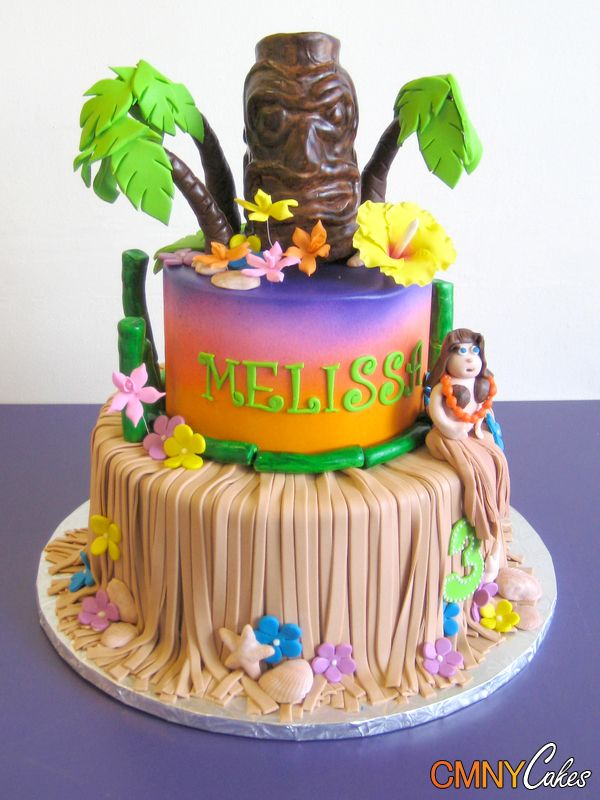 Luau Hula Girl Birthday Cake Marinas birthday Pinterest Hula