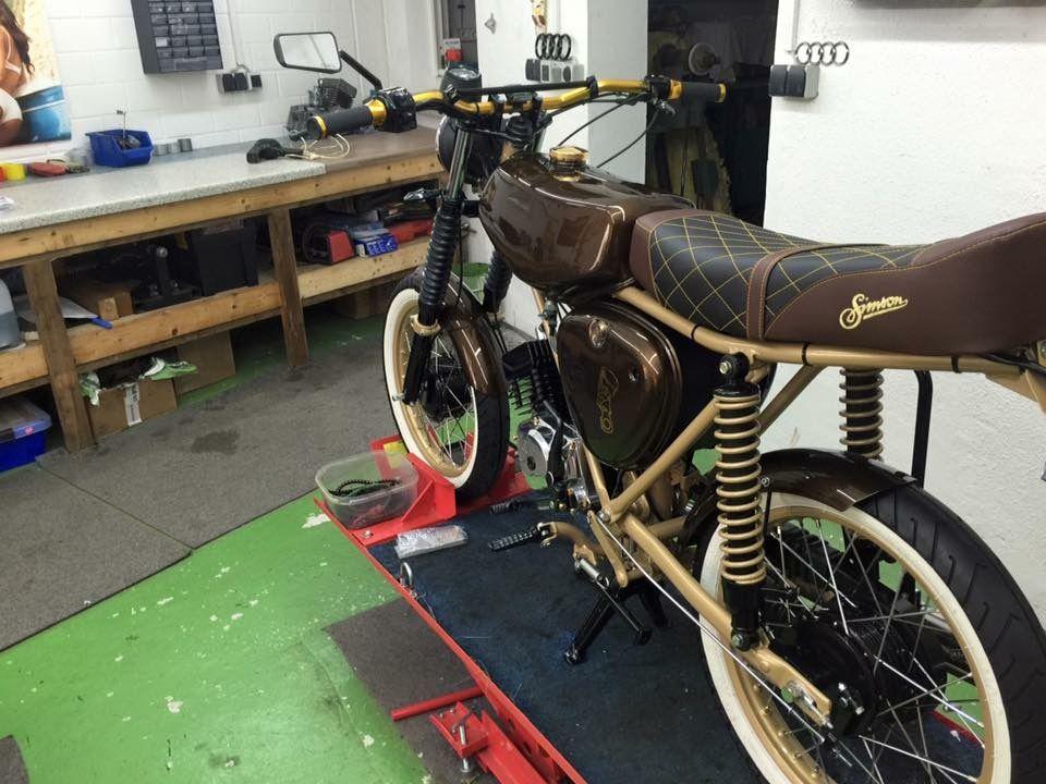 simson s51 custom motorcycles from th ringen pinterest. Black Bedroom Furniture Sets. Home Design Ideas