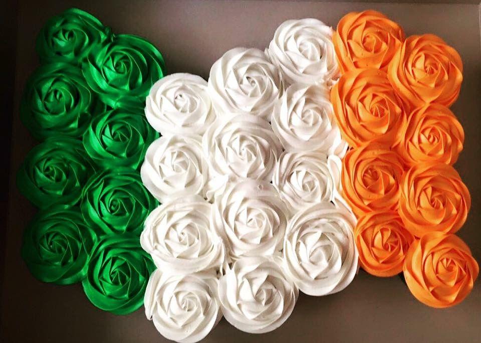 Irish flag cupcakes st pattys day irish flag flag