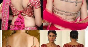 Top 58 Latest Back Blouse Design and Patterns For Sarees and Lehengas (2019) #blousedesignslatest 24 Latest Full Sleeves Saree Blouse Designs 2019 – Tips and Beauty #blousedesignslatest