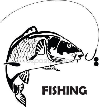 Скачать - Карп рыба, векторные иллюстрации — стоковая ...
