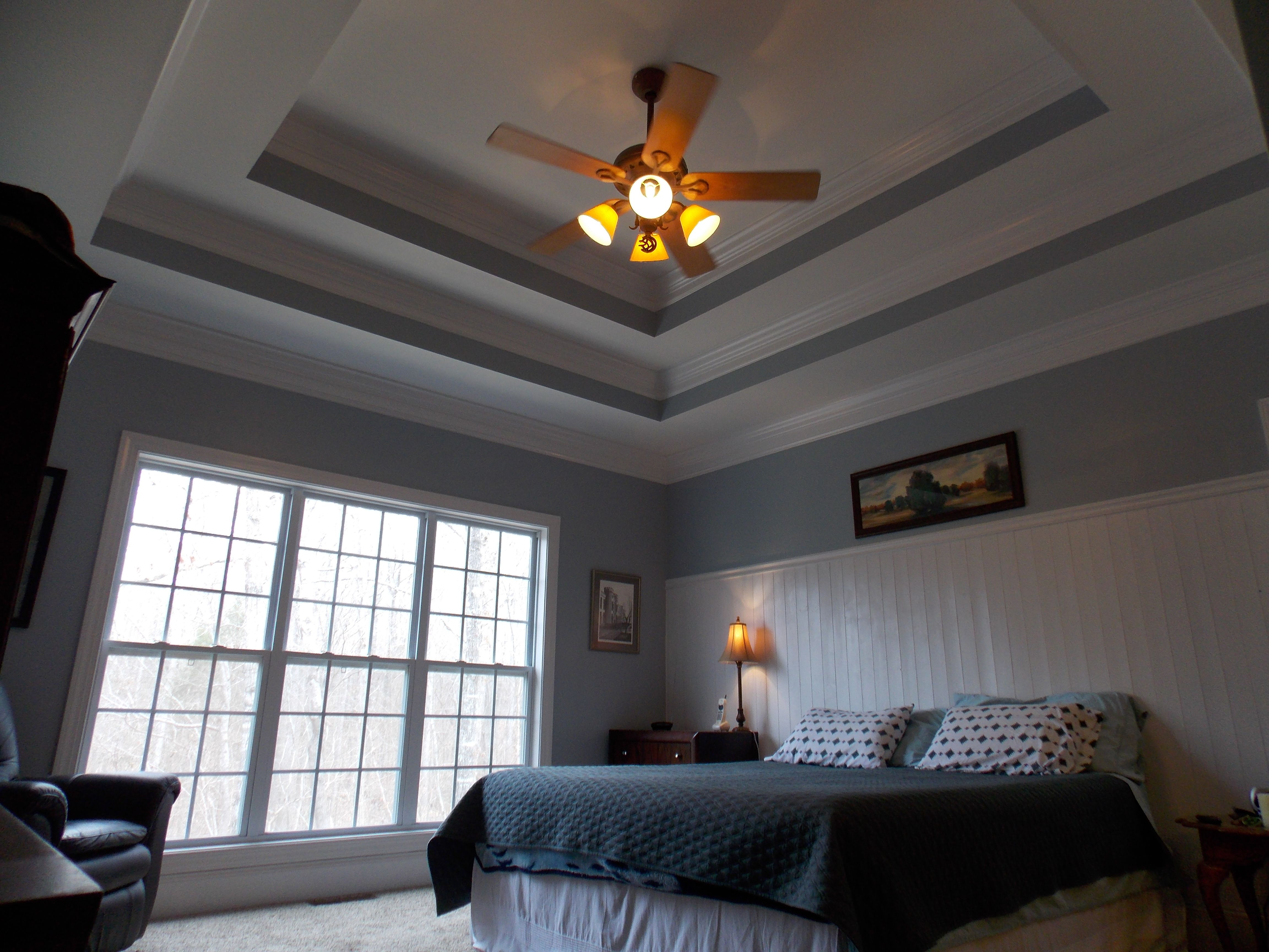 double tray ceilings and bead board wainscoting home decor tray ceiling bedroom painted. Black Bedroom Furniture Sets. Home Design Ideas