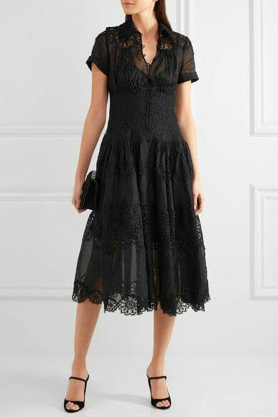 €1840 ZIMMERMANN  Winsome cotton-gauze and lace midi dress  €1,814