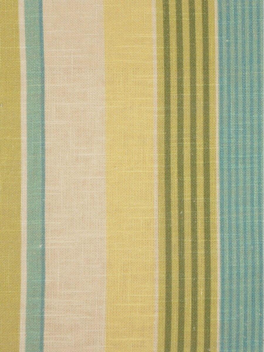 Phoebe printed vertical stripe linen custom made curtains cheery