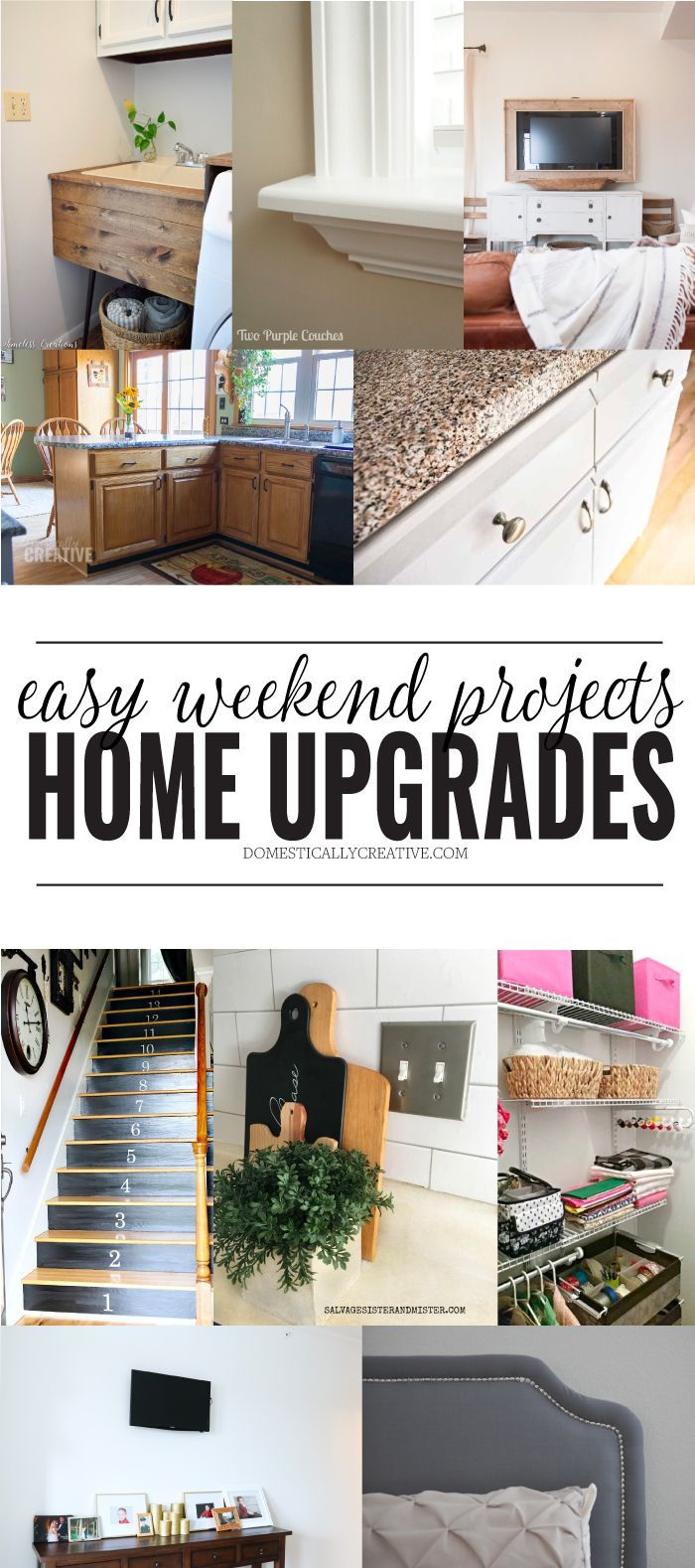 easy weekend home upgrades diy projects for the home pinterest rh pinterest ca