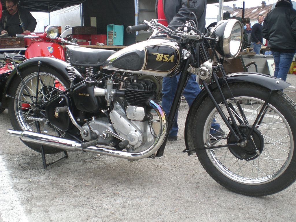 Bsa M20 1935 500cc Sv Classic Motorcycles Old Motorcycles Old School Bike