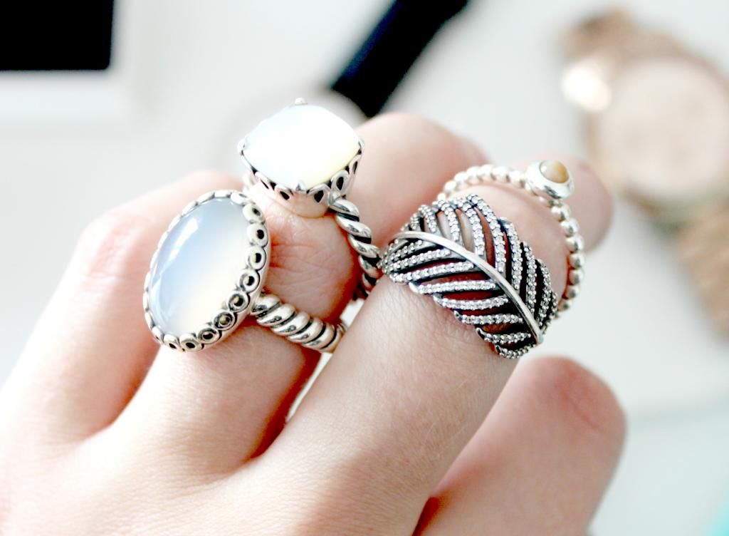 Pandora Bow Ring With Pearl