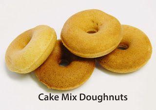 Cake Mix doughnuts {Recipe} Very simple