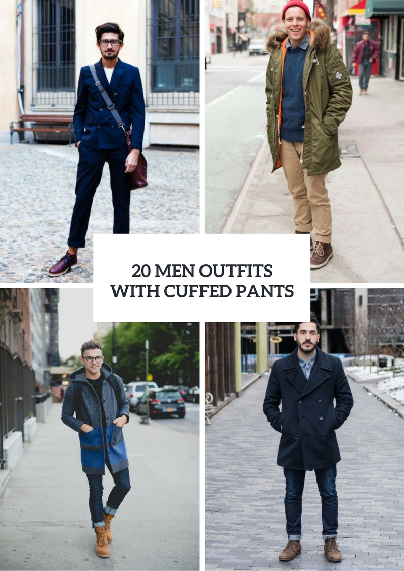 5c1d94fe5 20 Men Outfits With Cuffed Pants For This Season - Styleoholic ...