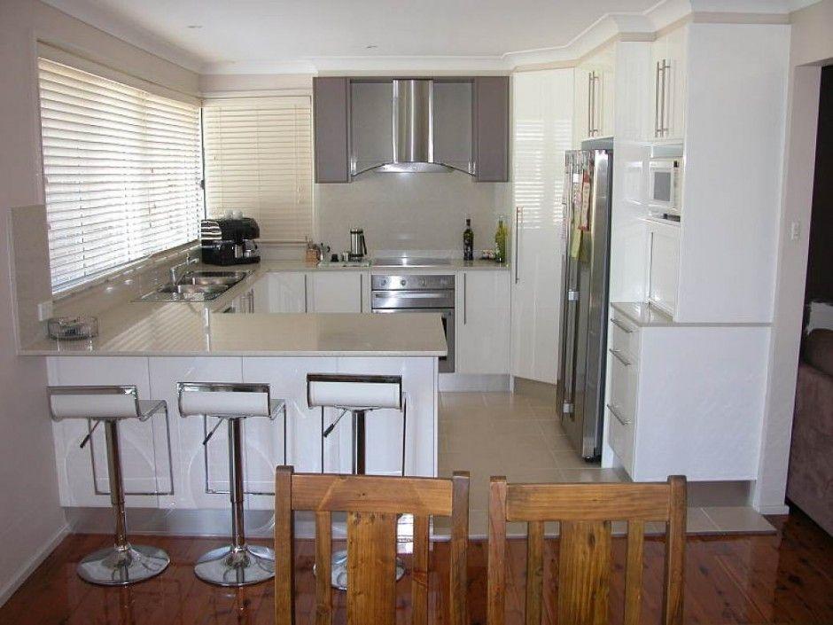 Kitchen Clean Small U Shape Kitchen Designs
