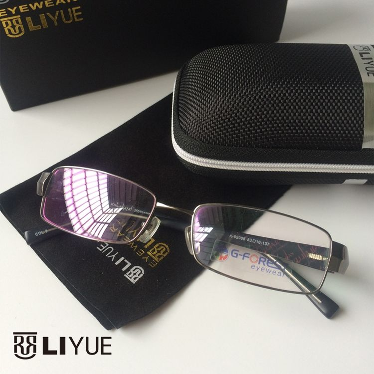 3f89c71e391 2016 men s optical frame High quality prescription myopia eyeglasses  fashion computer glasses Metal spectacles frame women