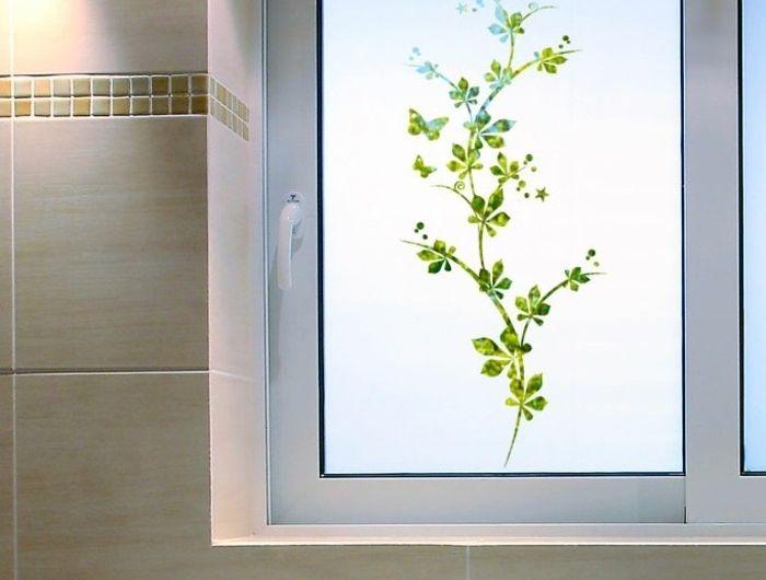 Autocollant pour vitre salle bain
