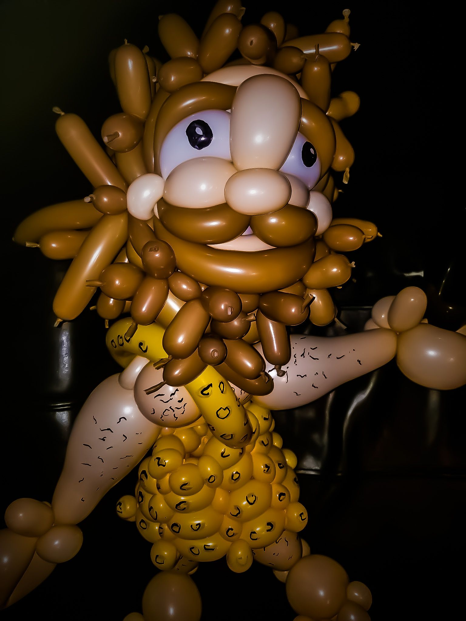 Caveman Balloon Sculpture By Las Vegas Twister Jeremy Johnston For Birthday Party Atomic Company Offers Services Parties Events