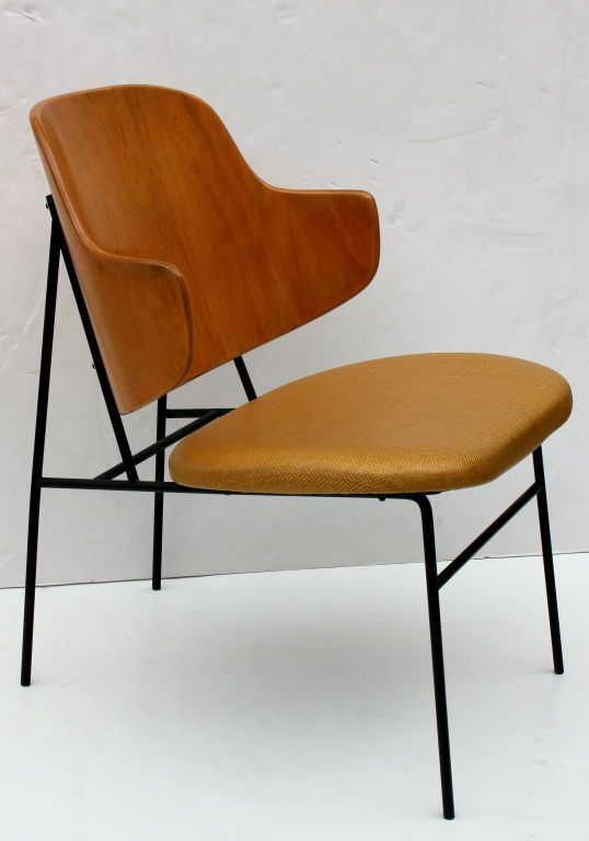 Good Ib Kofod Larsen Shell Back Chair