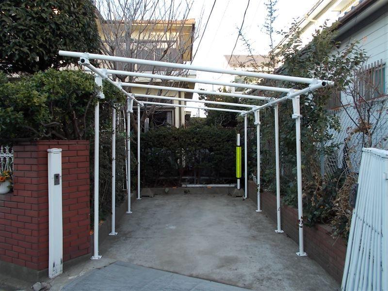 [日産 スカイラインGT‐R]単管パイプを使った車庫屋根の製作(2 ...