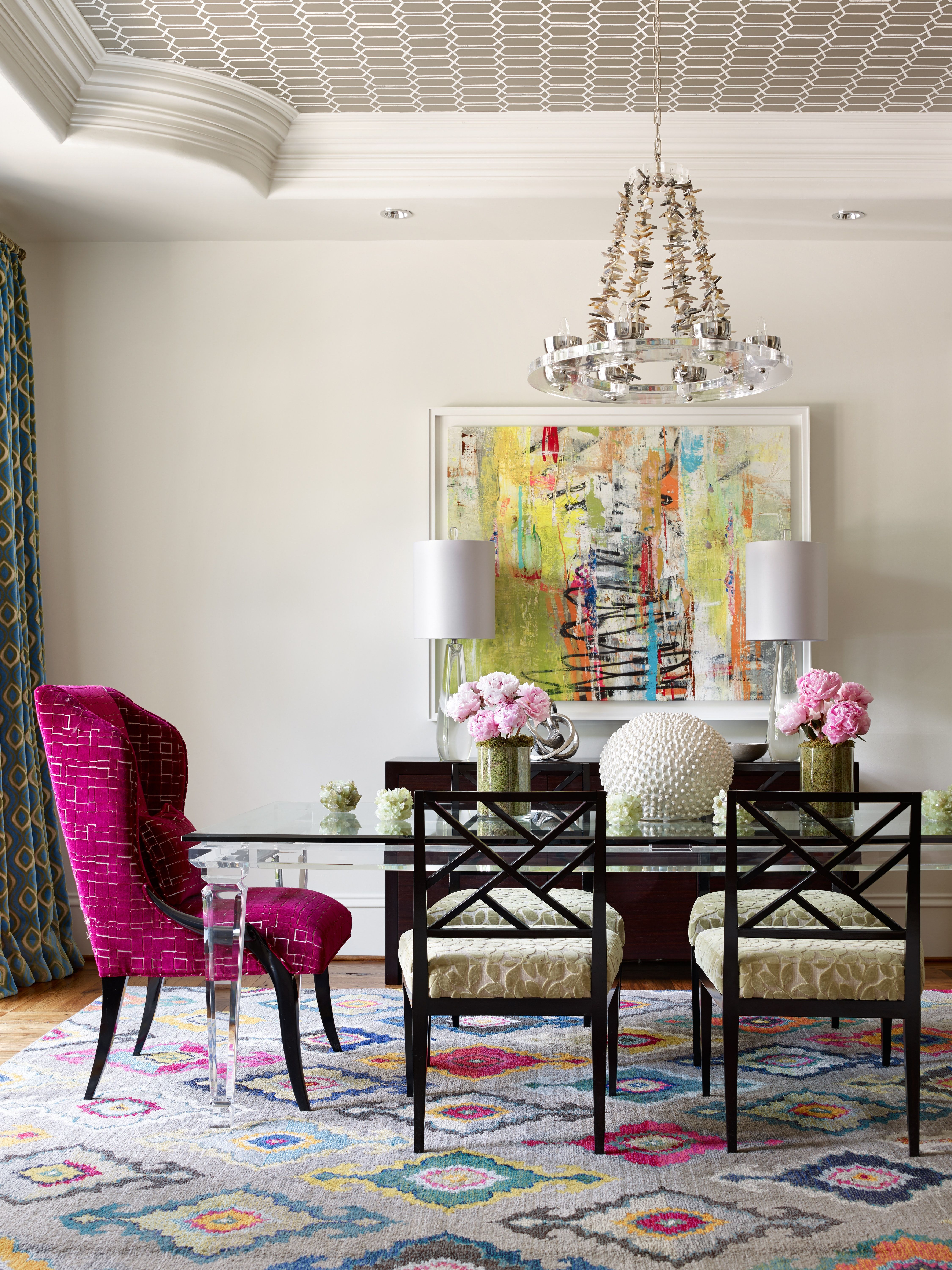 bold color buckhead residence 25 multicolor dining rooms in 2019 rh pinterest com