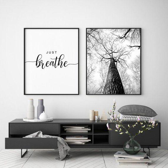 Photo of Atmen Sie einfach druckbare, Schlafzimmer Wandkunst, Inneneinrichtungen, Wandkunst Zitat, Wan…