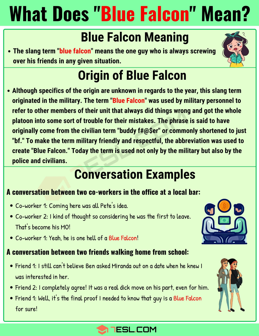 What Is Blue Falcon In Internet Slang With Useful Examples 7esl Slang Words Idioms And Proverbs English Writing Skills
