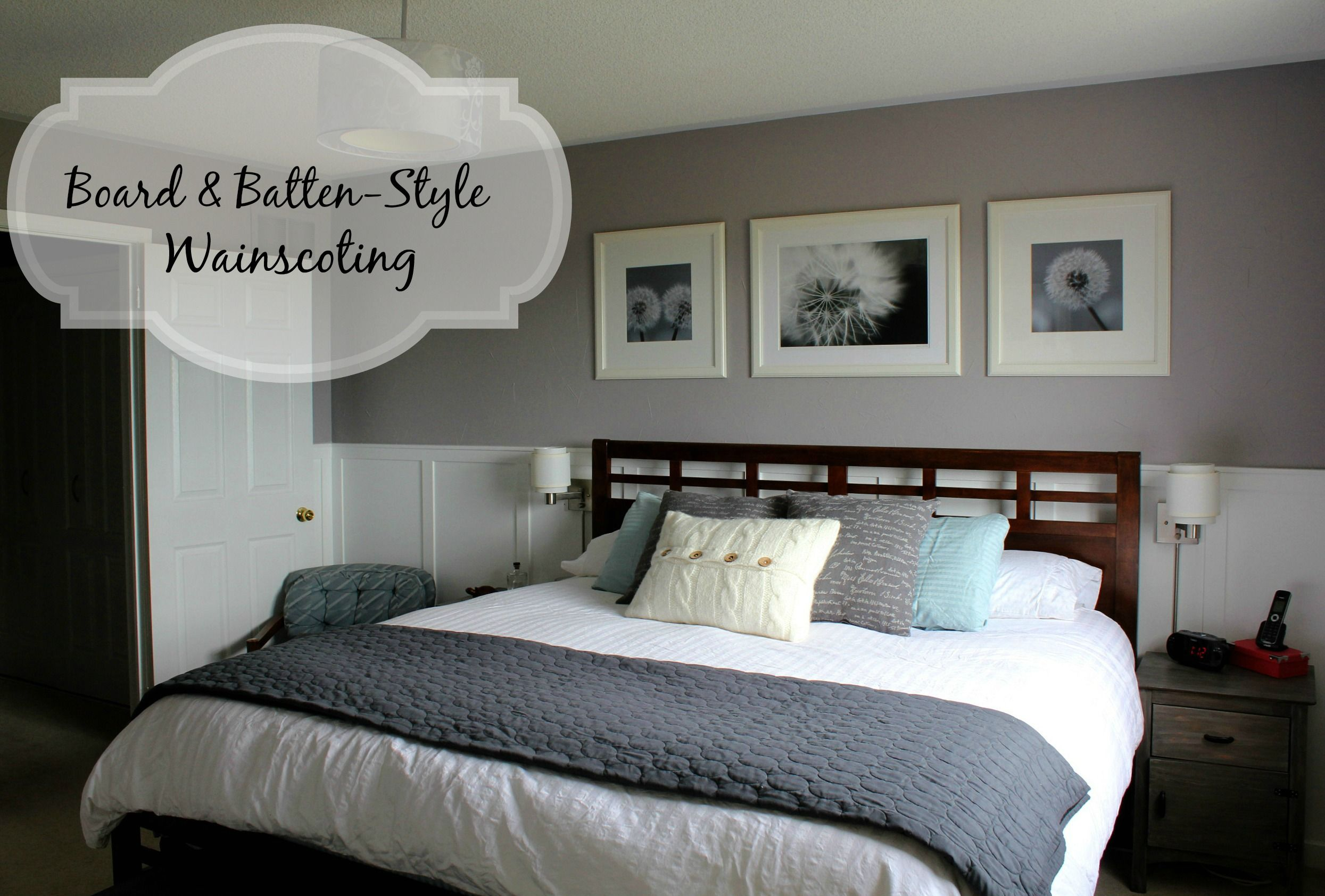 board and batten bedroom wainscoting board and