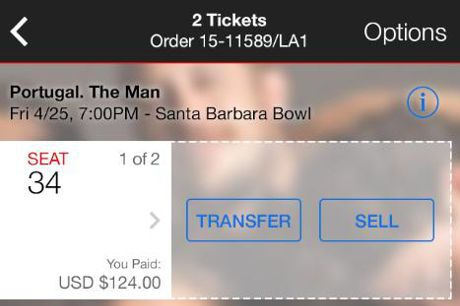 Ticketmaster adds animated watermarks to mobile tickets