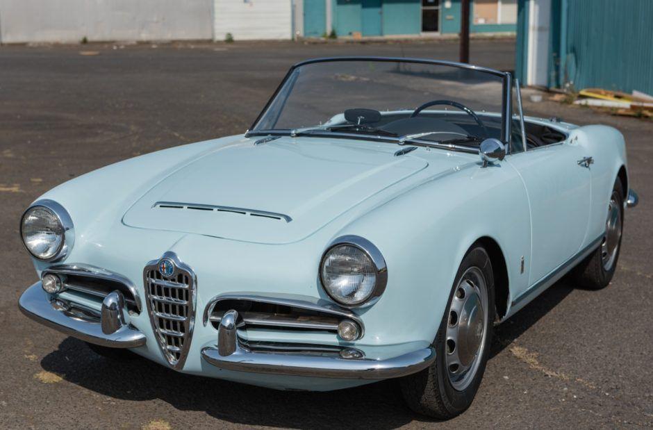 period raced 1963 alfa romeo giulia spider 1600 sports cars rh in pinterest com