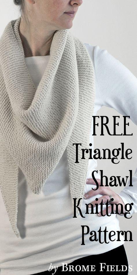Free Triangle Shawl Knitting Pattern Grab N Go By Brome Fields