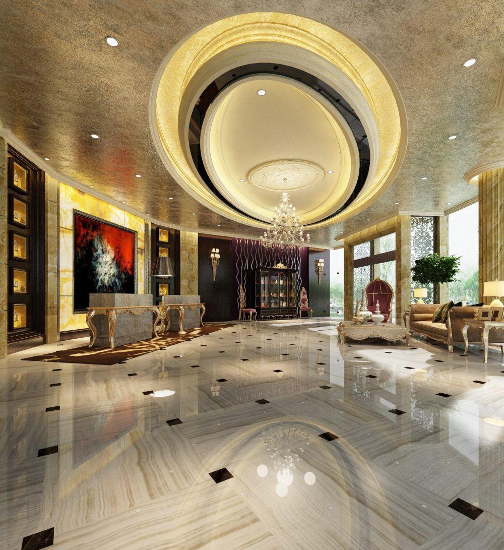 3d rendering luxury hotel lobby china luxury china hotel lobby - Luxurious Hotel Lobby 3d Model