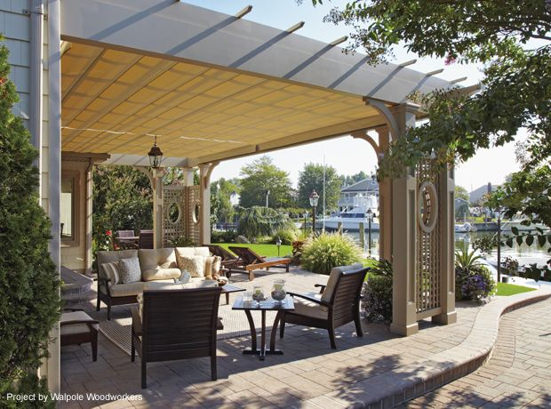 retractable awnings in west islip shadefx canopies pool rh pinterest com