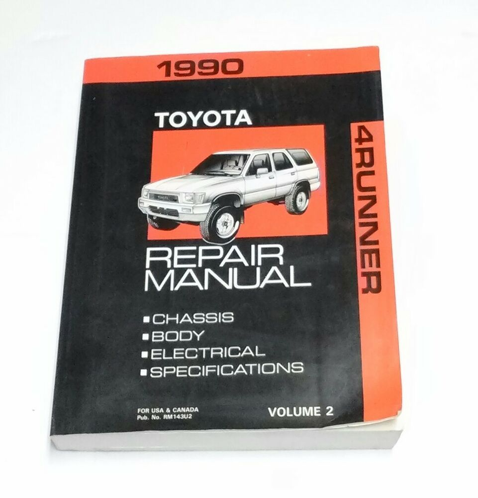 1990 4runner Oem Shop Manual Service Repair Specs Toyota