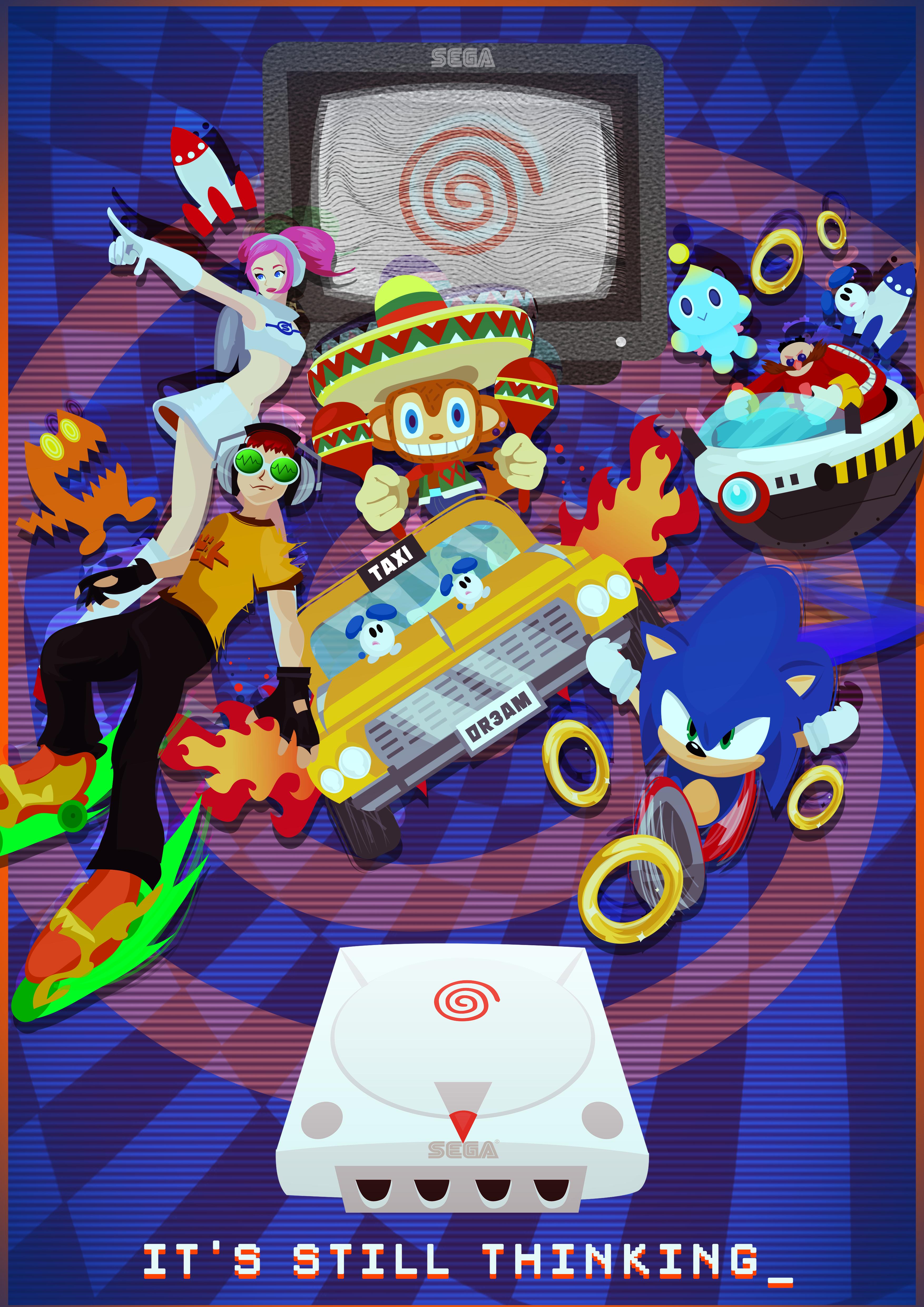 Sega Dreamcast Sega Dreamcast Geeky Wallpaper Retro Arcade