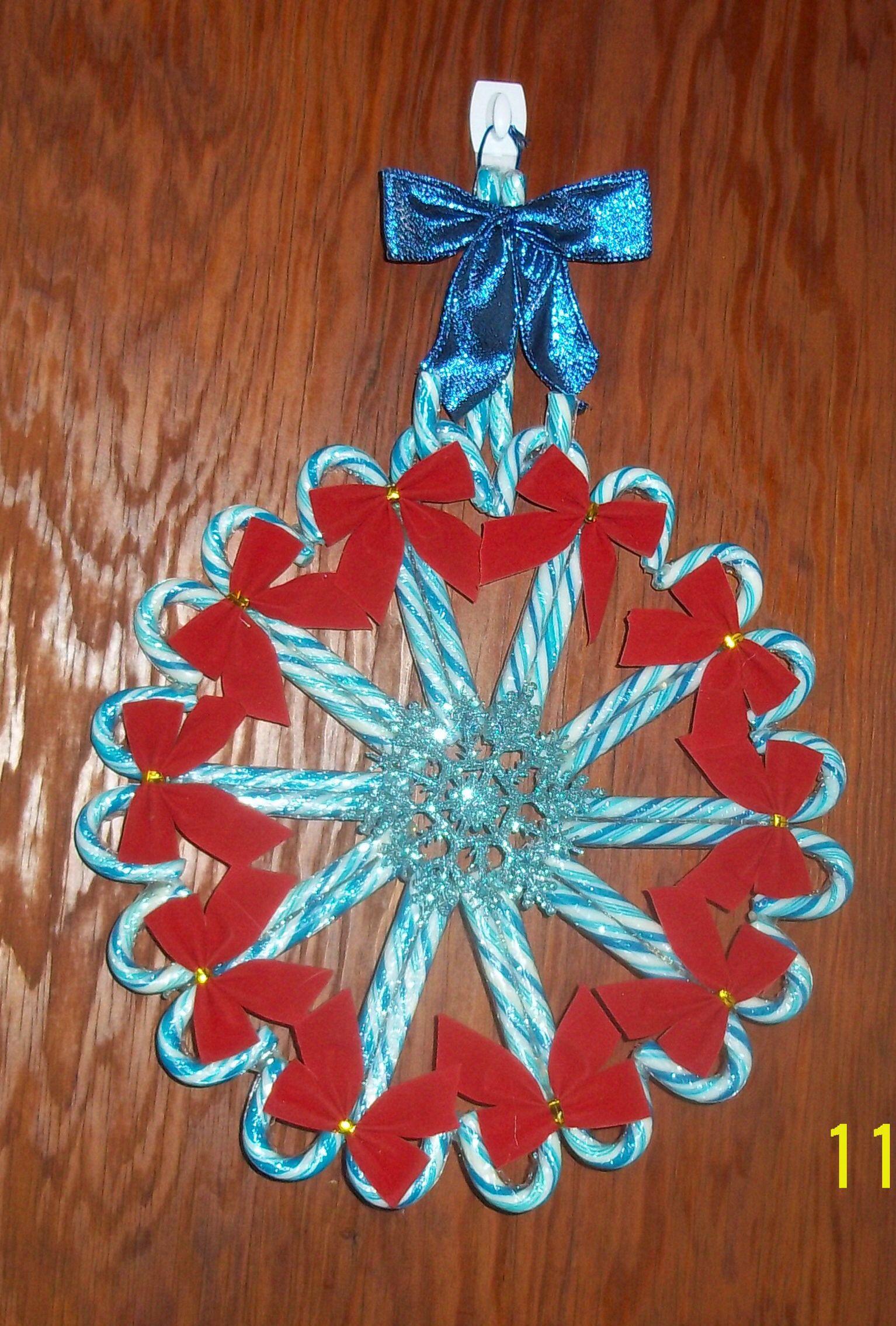 Blue Candy Cane Wreath So Far My Favorite Wreath