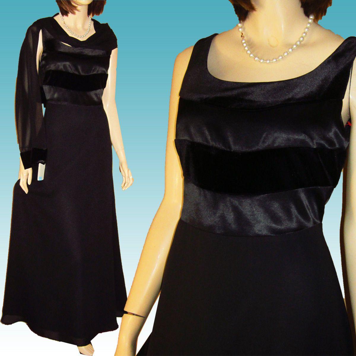 Awesome Amazing New VELVET SATIN CREPE Prom Black Tie Tuxedo Gown ...