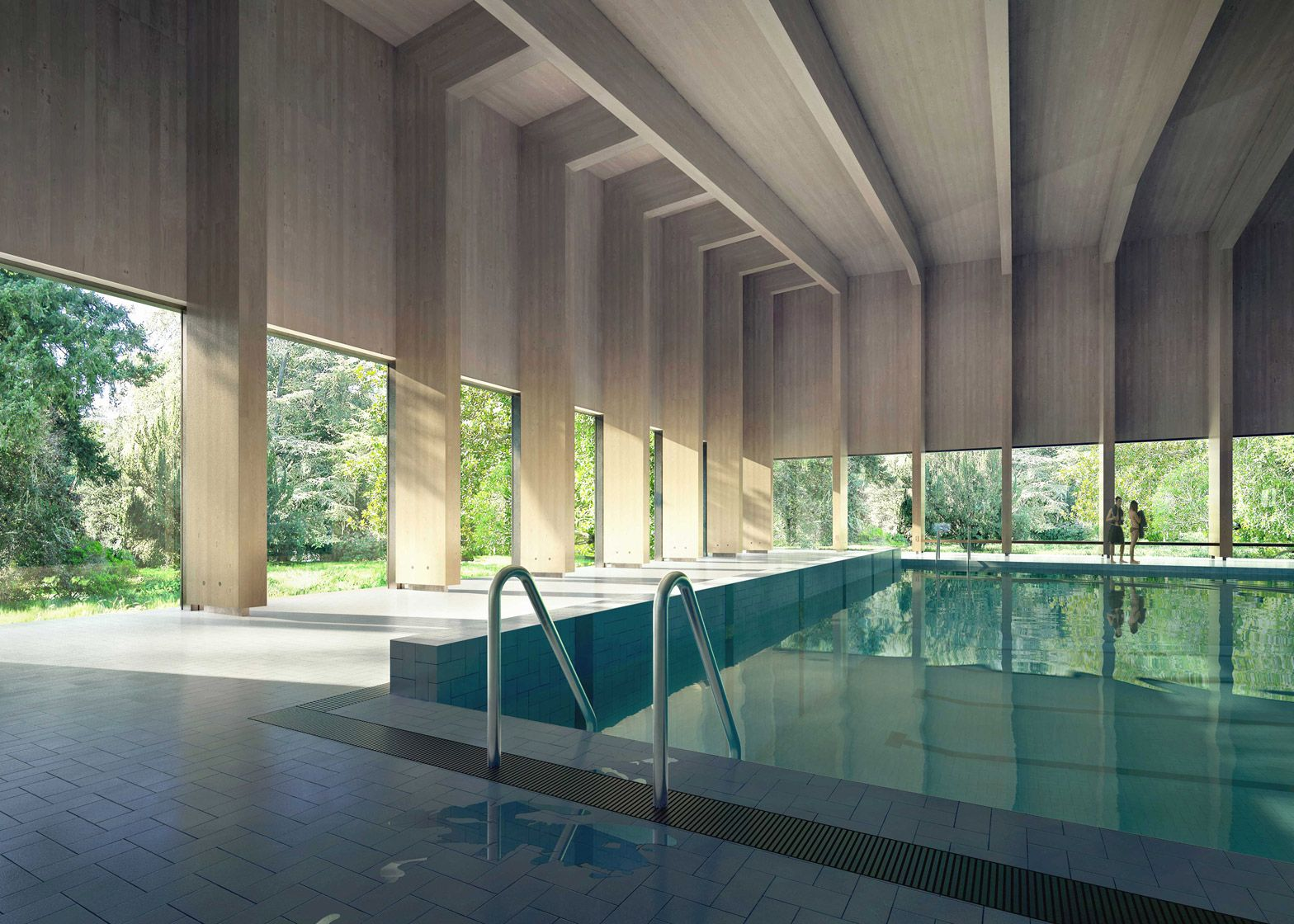 Swimming Pool Architecture Design the rooftop swimmingpool provide panoramic ocean view Hawkinsbrown Designs Pool That Will Give The Sense Of Swimming Amongst The Trees