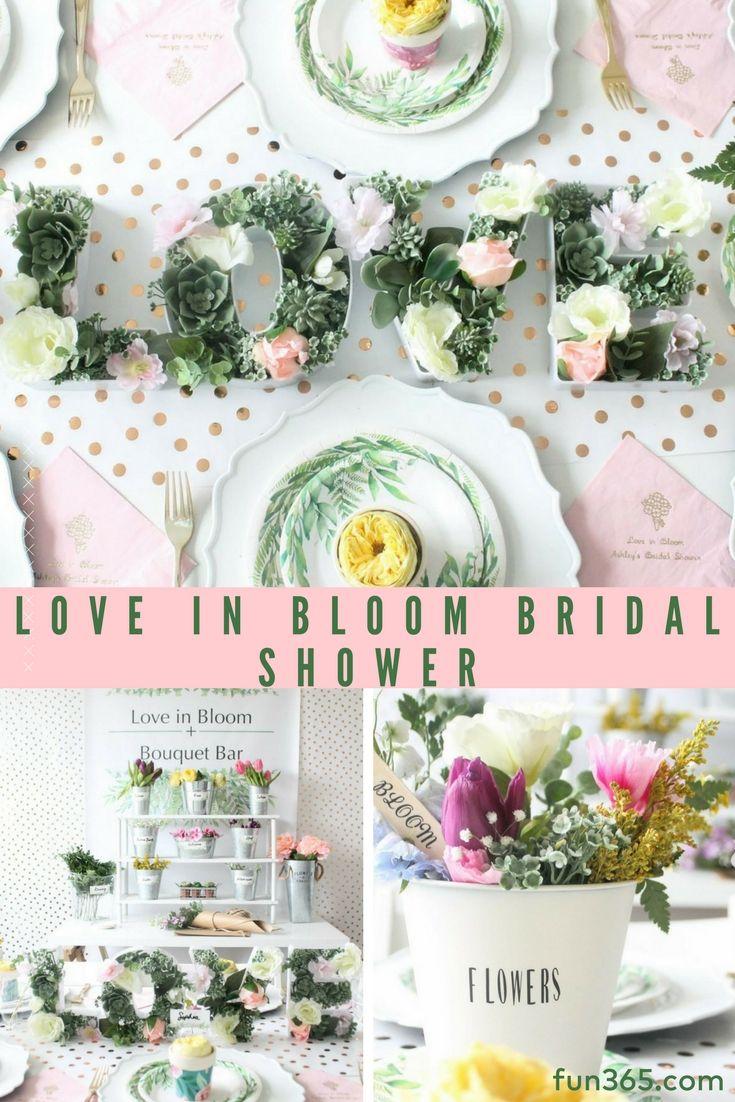 Love this gorgeous floral bridal shower theme