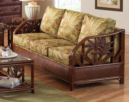 Cancun Palm Sleeper Sofa Wicker Decor Wicker Sofa Sofa