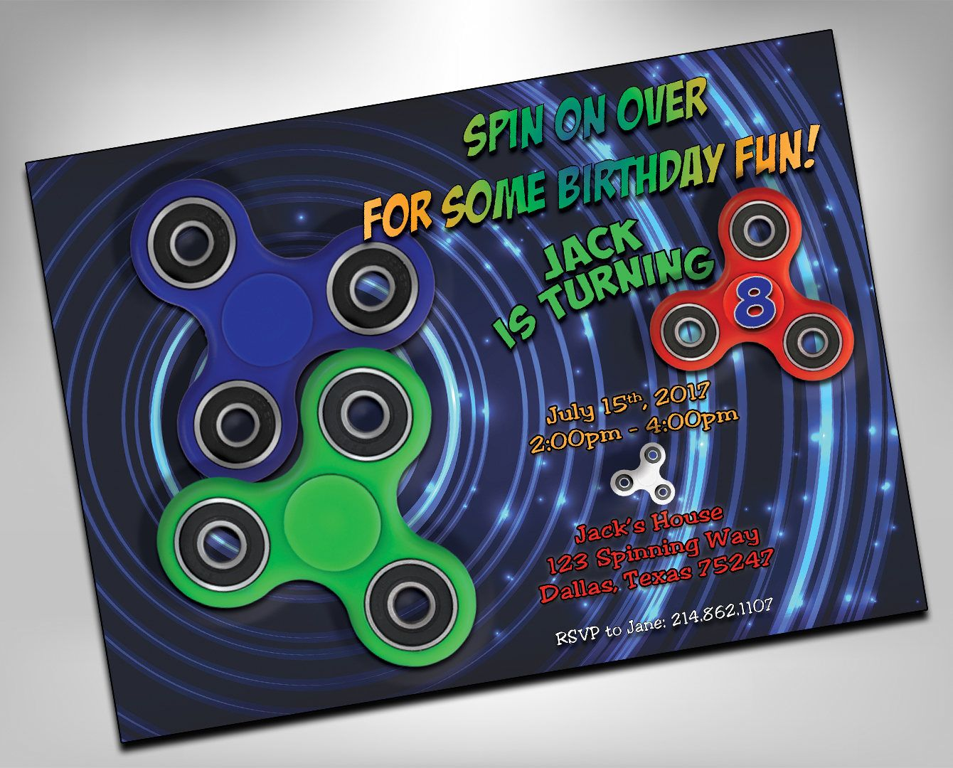 wording ideas forst birthday party invitation%0A Fidget Spinner Invitation  Fidget Spinner Birthday Invitation  Fidget  Spinner Party Invitation  Fidget Spinners