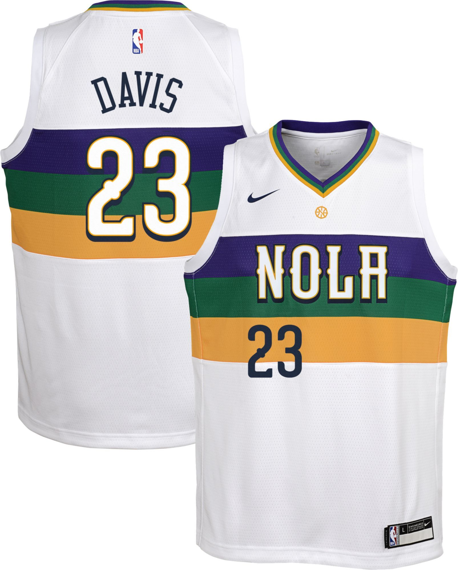 super popular 5f497 0ad86 Nike Youth New Orleans Pelicans Anthony Davis Dri-FIT City ...