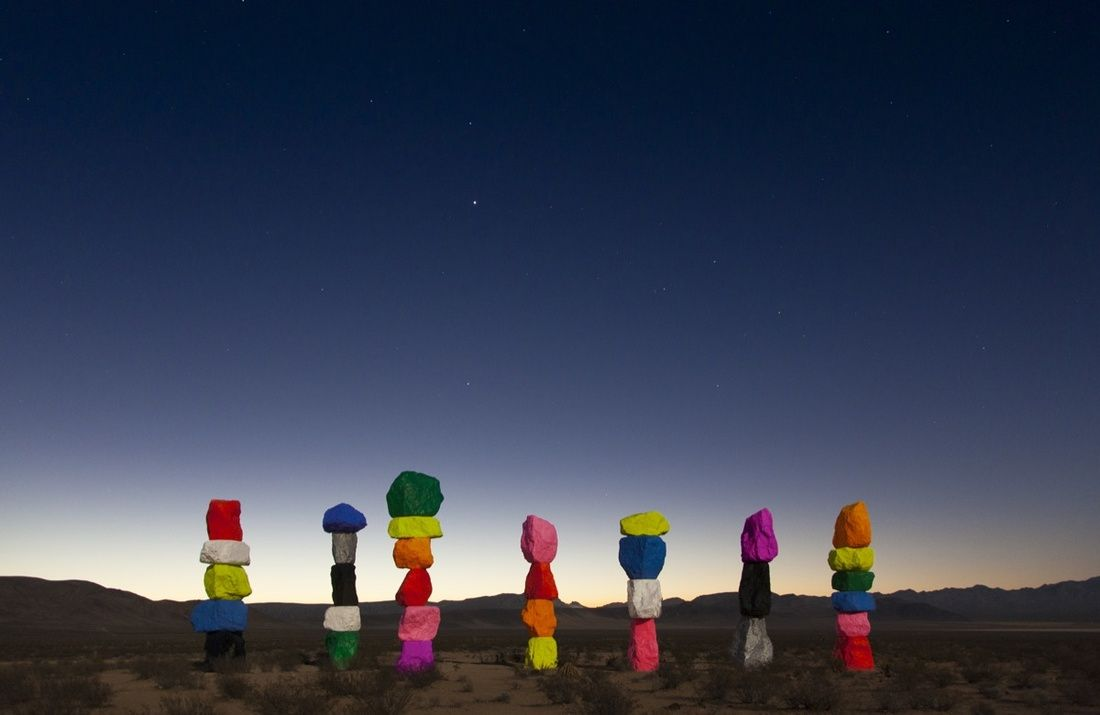 seven magic mountains was against the law so a museum passed a new one rh pinterest com