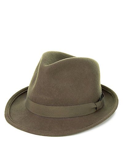 3c437b0d Pure Wool Trilby Hat with Stormwear™ | Hats | Pinterest