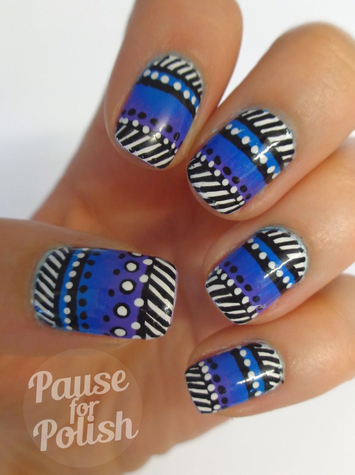 Pause For Polish: Claire\'s Accessories Neon Purple Nail Art! | Nails ...