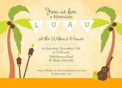 Hawaiian Luau Invitations Template Free Moana Luau Luau