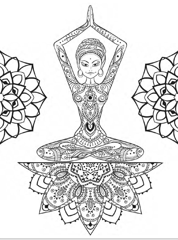 Yoga And Meditation Coloring Book For Adults With Yoga Poses And Mandalas Mandala Coloring Pages Coloring Pages Coloring Books