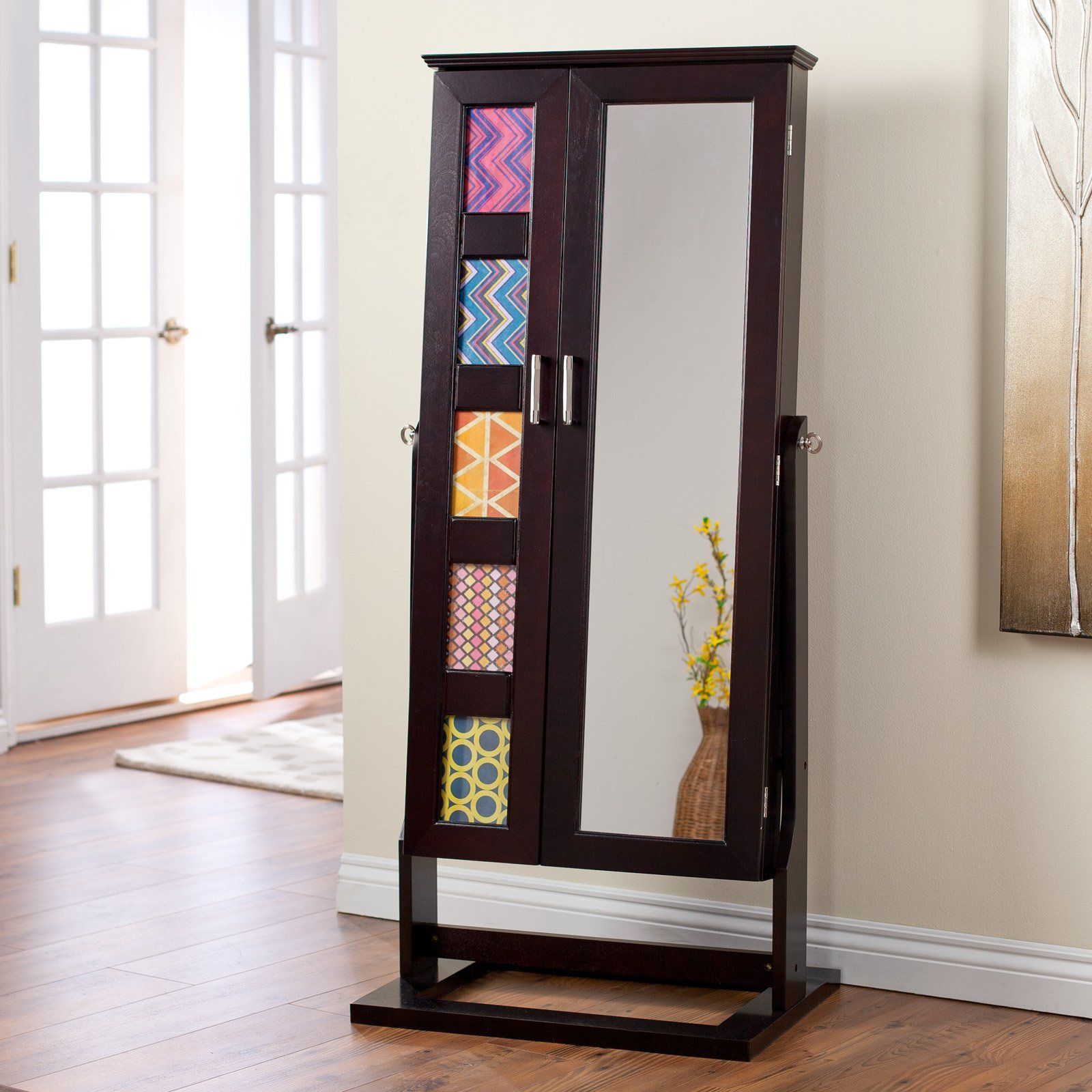 Belham Living Photo Frames Jewelry Armoire Cheval Mirror Espresso