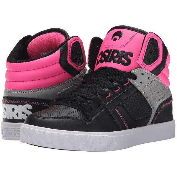 d4a8f47ba1ac3 Osiris Clone (Black/Pink) Women's Skate Shoes ($30) ❤ liked on ...