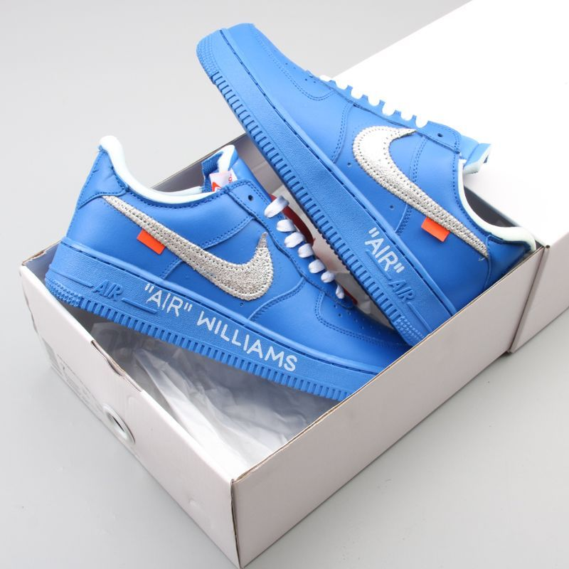 off white university blue air force 1