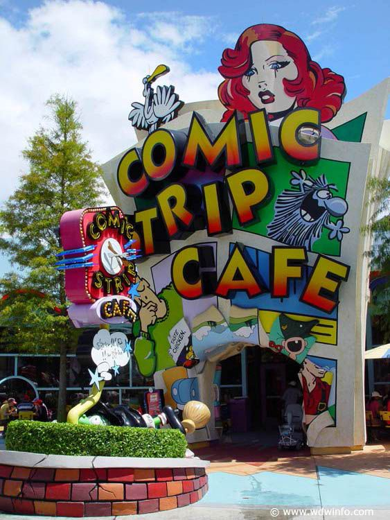 Islands Of Adventure Photos 03 Comic Strip Cafe Comic Book Rooms Islands Of Adventure Universal Orlando Resort