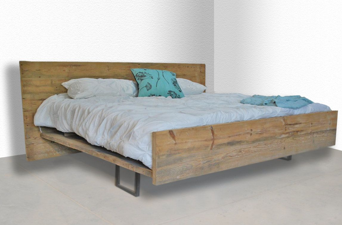 modern rustic reclaimed wood platform bed king made to order rustic beds pinterest more. Black Bedroom Furniture Sets. Home Design Ideas