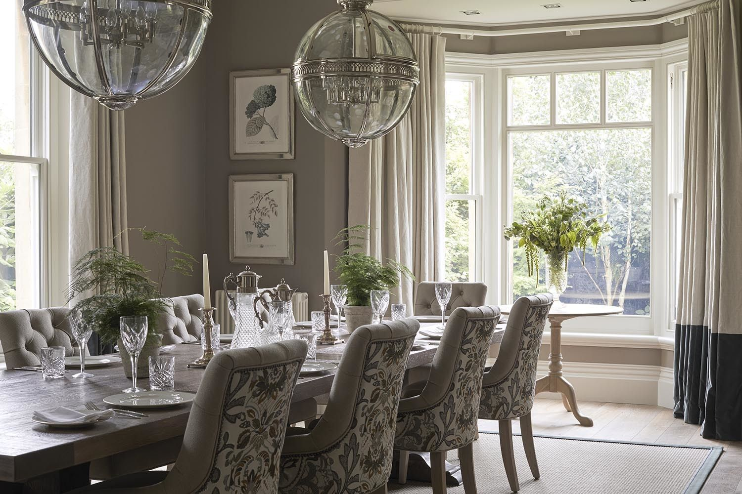 elegant dining room with a large antique table and upholstered rh pinterest com